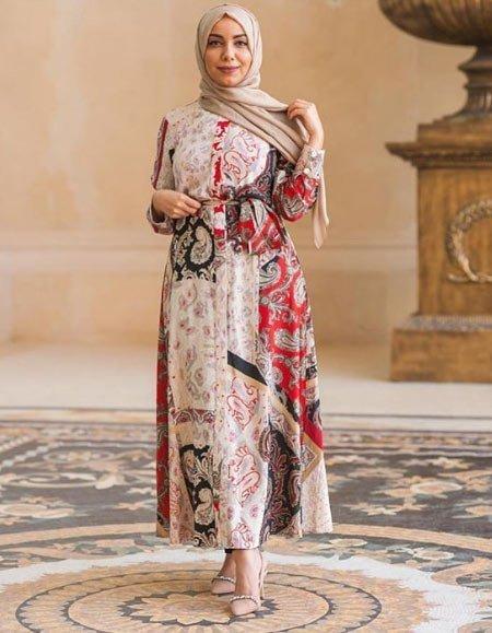 gelmiş geçmiş en güzel 85 tesettür abiye elbise modeli 14