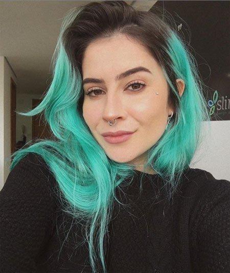 turkuaz saç rengi ve boyaları 6