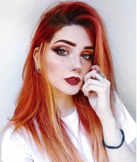 altın kızıl saç rengi ve modelleri 3