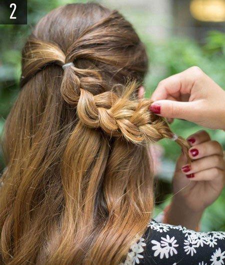 çiçek örgü saç yapımı 1