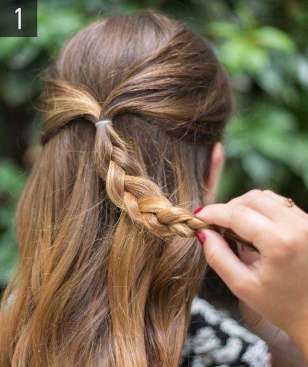 çiçek örgü saç yapımı 2