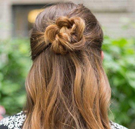 çiçek örgü saç yapımı 4