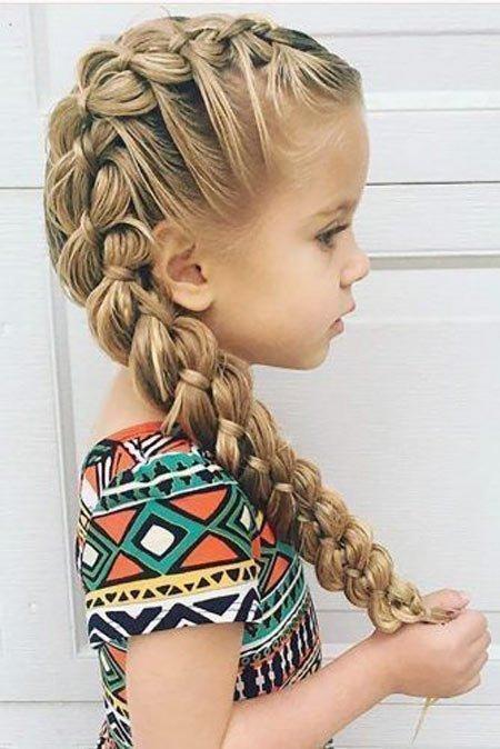 küçük kızlar i̇çin farklı saç örgüleri 3
