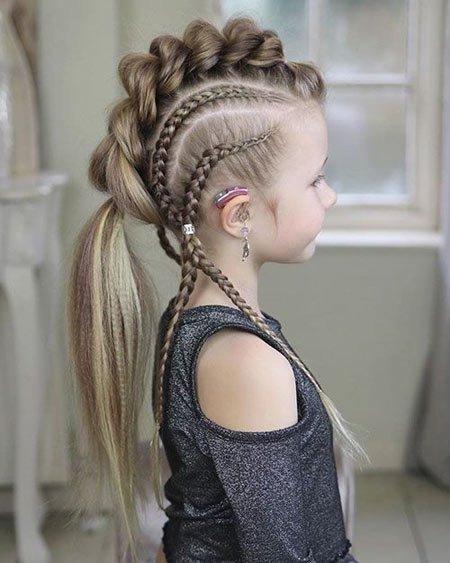 küçük kızlar i̇çin farklı saç örgüleri 1