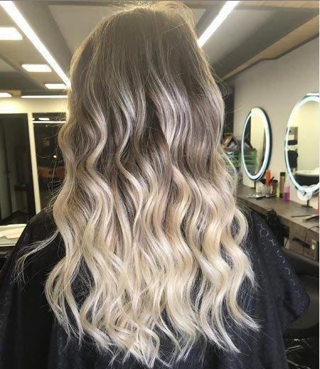 Küllü Saça Sarı Balyaj Uygulaması