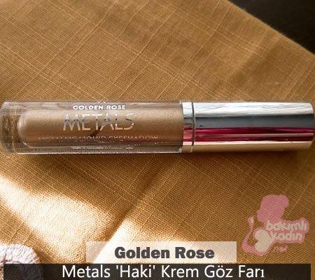 golden rose metals 'haki' krem göz farı
