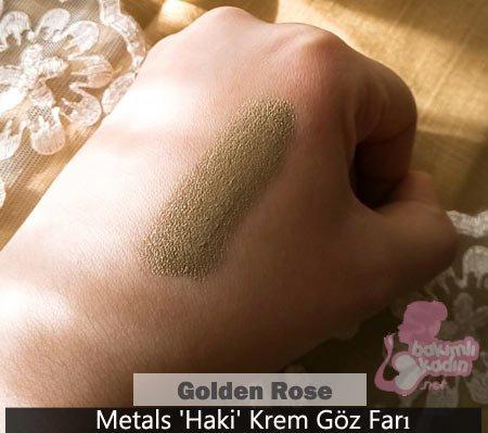 golden rose göz farı : metals haki krem 1