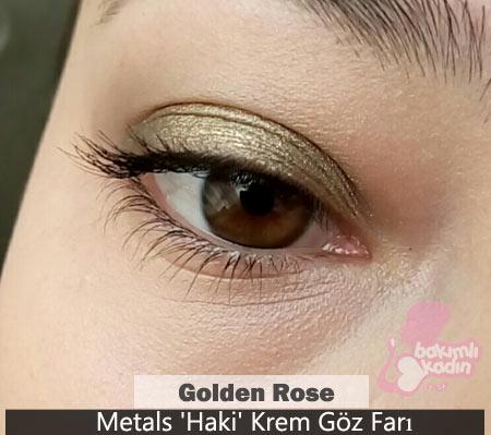 golden rose göz farı : metals haki krem 2