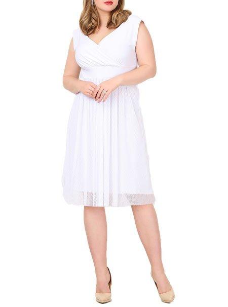 Büyük beden beyaz nikah elbisesi