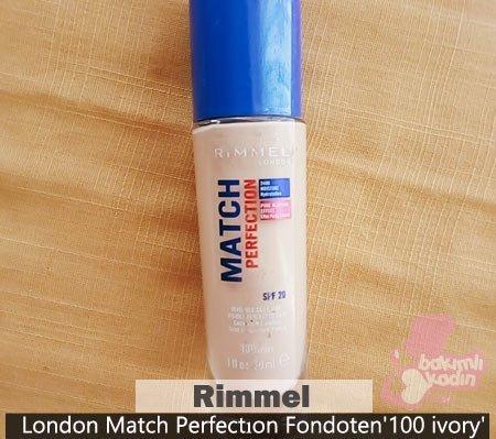 Rimmel London Match Perfectıon Fondoten'100 ivory'