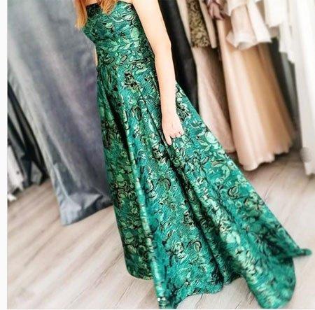 abiye elbise brokar kumaş