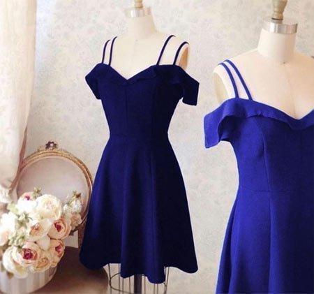 Saks Mavisi midi elbise