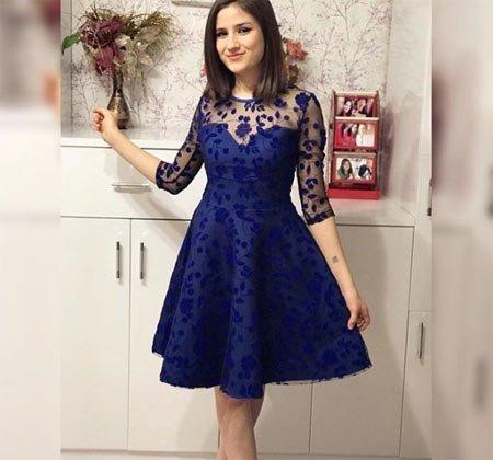 Saks Mavisi Gece Elbiseleri