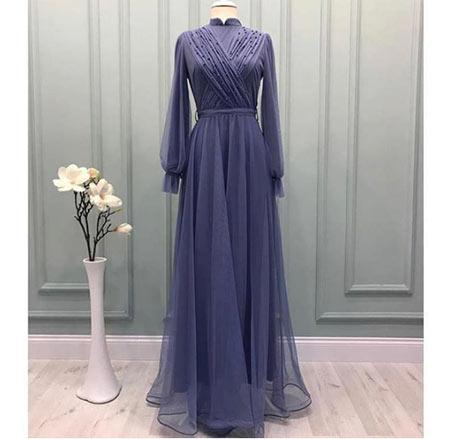 gelmiş geçmiş en güzel 85 tesettür abiye elbise modeli 9