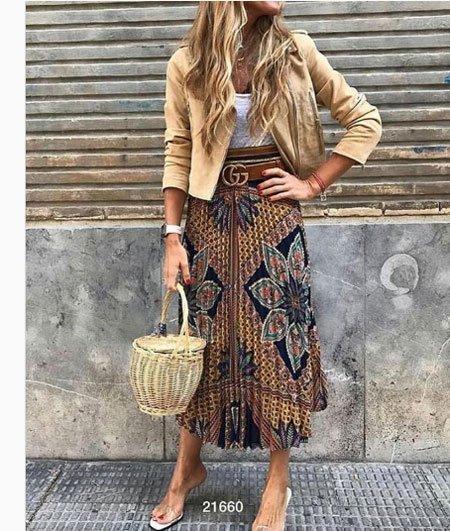 Eklektik Moda  tarzına bir örnek