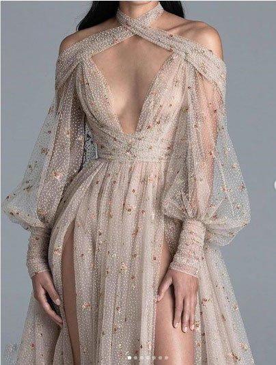haute couture elbise modeli