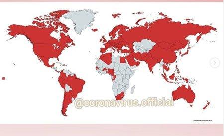 corona virüsü dünyaya yayılma haritası