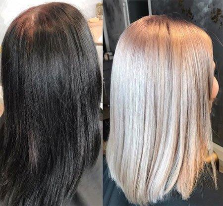 siyah saç rengi nasıl açılır?evde uygulama yöntemi 1