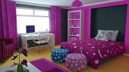 mor ev dekorasyon örnekleri 5