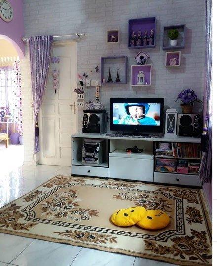 mor ev dekorasyon örnekleri 7