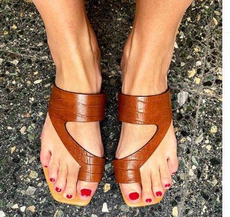 düz taban sandalet modelleri 4