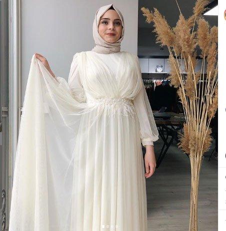 2020 tesettür nikah elbiseleri 3