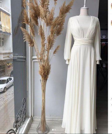 2020 tesettür nikah elbiseleri 5