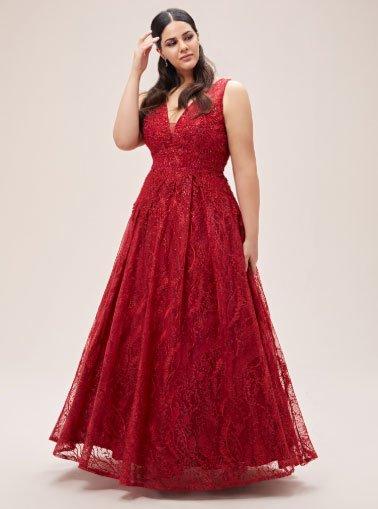 en çok beğeni alan 11 büyük beden abiye elbise 6