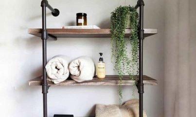 ev dekorasyonunda yeni trend: endüstriyel demir boru duvar rafları 5