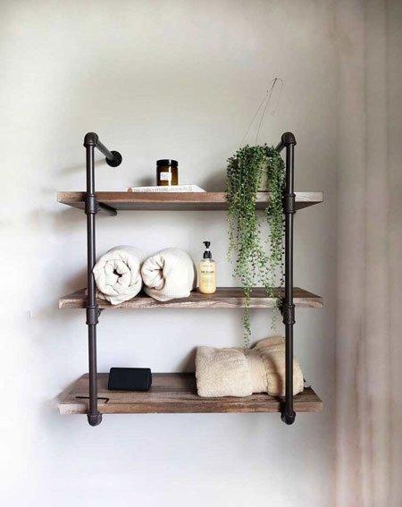 ev dekorasyonunda yeni trend: endüstriyel demir boru duvar rafları 6
