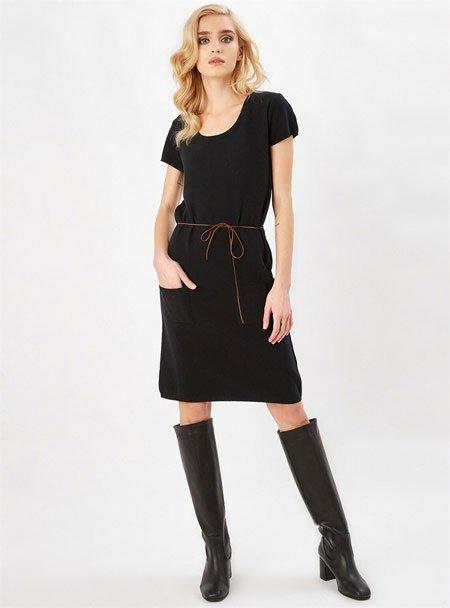Peraluna triko kumaş elbise
