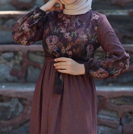 gelmiş geçmiş en güzel 85 tesettür abiye elbise modeli 37