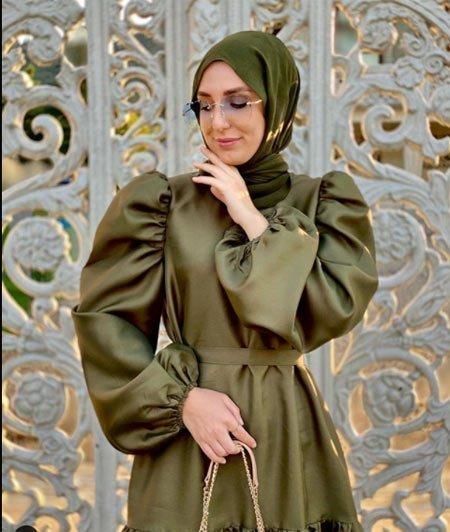 gelmiş geçmiş en güzel 85 tesettür abiye elbise modeli 36