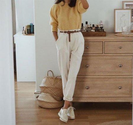 beyaz pantolon kombini nasıl yapılır? 41 farklı kombin önerisi 1