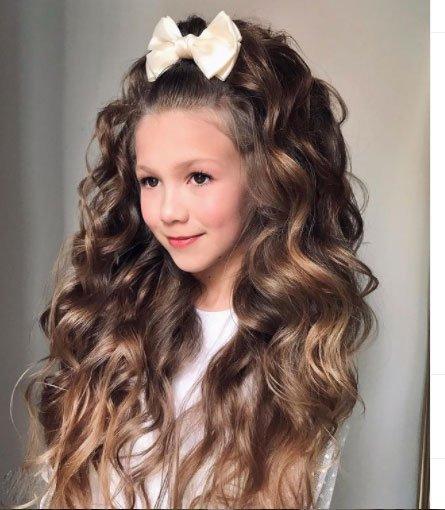 en güzel 19 çocuk abiye saç modeli 2