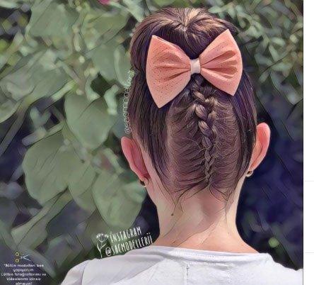 Çocuk Abiye Saç Modeli