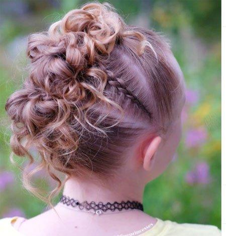 en güzel 19 çocuk abiye saç modeli 7