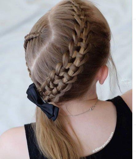 en güzel 19 çocuk abiye saç modeli 8