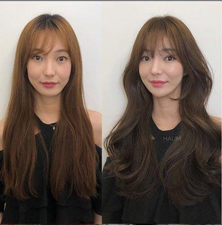 Katlı Kahkül Saç Modelleri