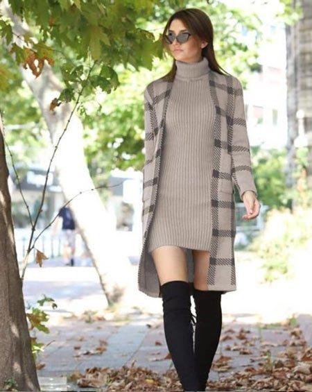 Kışlık Elbise Kombin