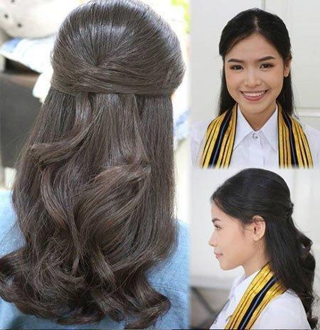 15 adet büyüleyici mezuniyet saç modelleri 6
