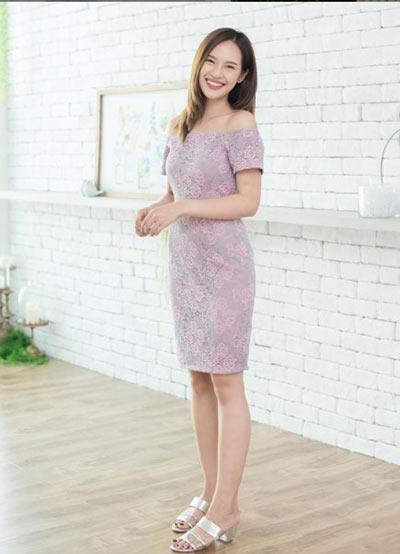 pastel elbise