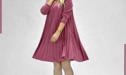 birbirinden demode 7 pileli elbise modeli 12
