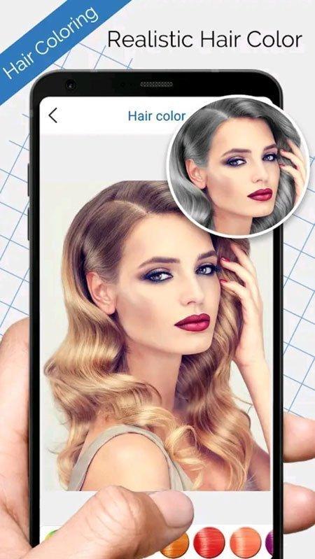 saç rengi değiştirme mobil uygulama i̇ncelemeleri 2