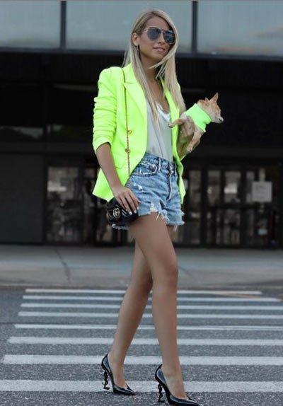 neon blazer ceket