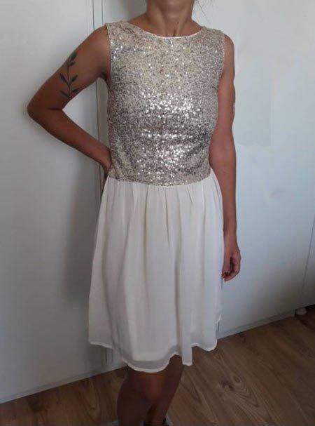 payetli gece elbise