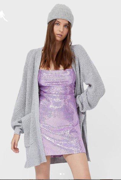 payetli elbise kombin