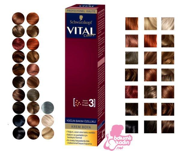 vital saç boyası kataloğu