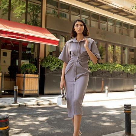gömlek elbise kombinleri 2