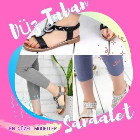 düz taban sandalet modelleri 1